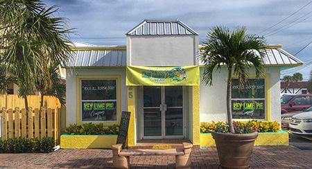 The Florida Key Lime Pie Company - 25 North Orlando Avenue in Cocoa Beach, Florida.