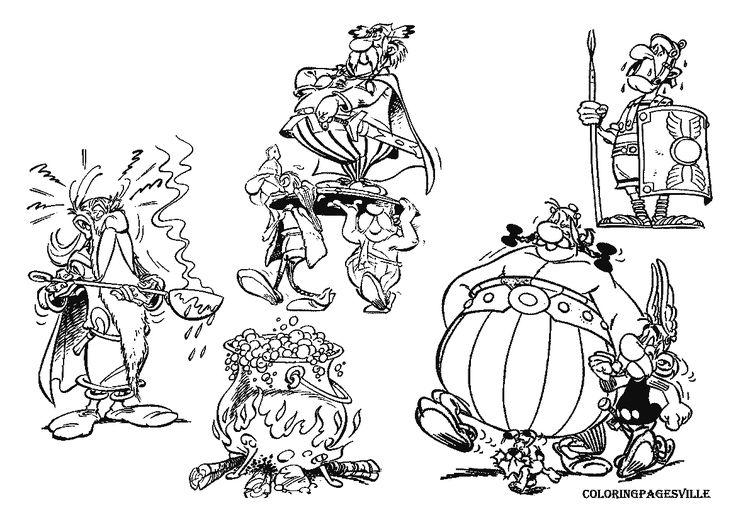 coloriage-asterix-et-obelix-102.gif (1169×827) en 2020