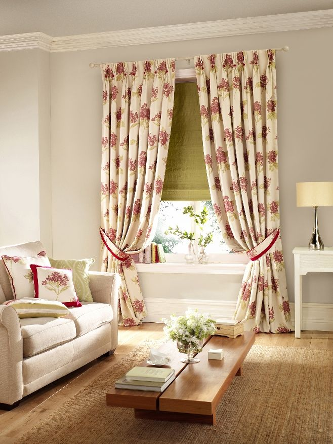 Pinch pleat living room curtains Laura