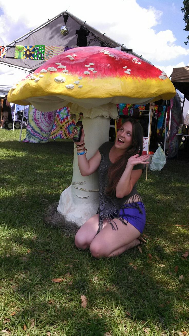 Made a giant mushroom out of paper mache for our regional burn #florida #preheat #burningman