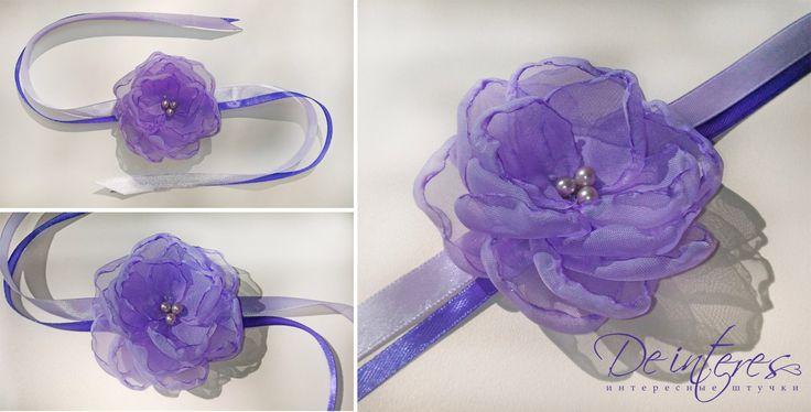 De Interes. Нежно сиреневый в браслетах для подружек невесты. На заказ любого цвета,) #браслет#подружки_невесты#сиреневый#страз#свадьба#невеста#цветок#пион#нежность#красивости