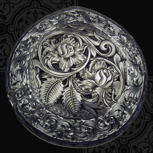 Sterling silver Wade Saddle horncap.