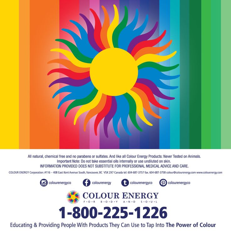 For over the past decade, COLOUR ENERGY® has been, and continues to be, an international leader in professional grade aroma and colour therapy products. We pride ourselves on providing our clients with organic, therapeutic quality goods with environmentally friendly packaging.  Our easy to reference colour-coded chakra system helps you quickly reach your maximum body, mind and spirit potential.  #colourenergy