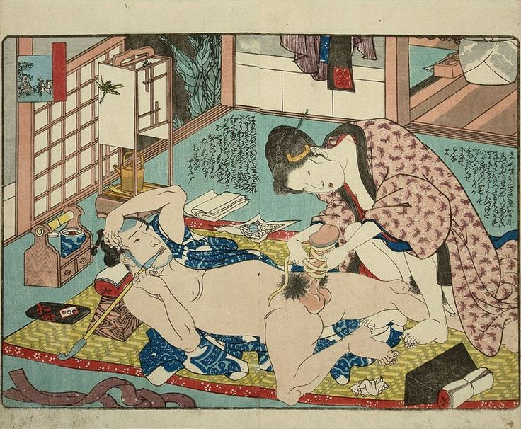 If your taste leans towards Japanes rope art then this woodblock print is for you. Binding Penis - Utagawa Kuniyoshi - c.1835. A woman is applying a sex toy called higozuiki, a dried taro (arum maculatum), to her husband's penis to enhance her enjoyment during penetration.