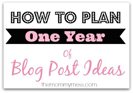 How to plan one year of blog post ideas - I might actually do this this year.