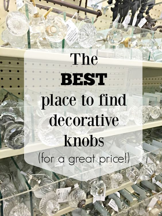 The best place to find beautiful and affordable knobs for cabinets and dressers!