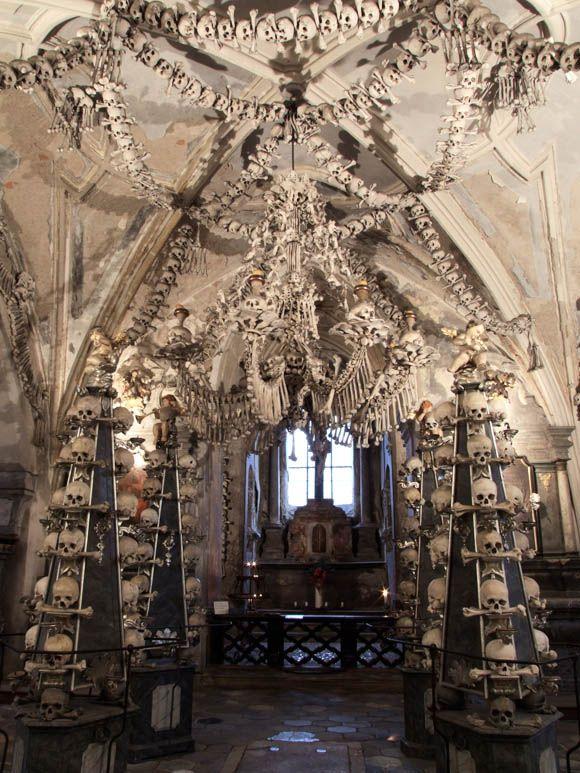 Sedlec Ossuary or Church of Bones in Czech Republic