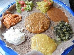 """Seattle's Best Ethiopian Restaurant, Meskel Ethiopian Restaurant, Seattle, Washington  Haven't tried yet, but strongly recommended by some friends. My next stop (read """"Cutting for Stone"""" by A. Verghese before you visit)"""