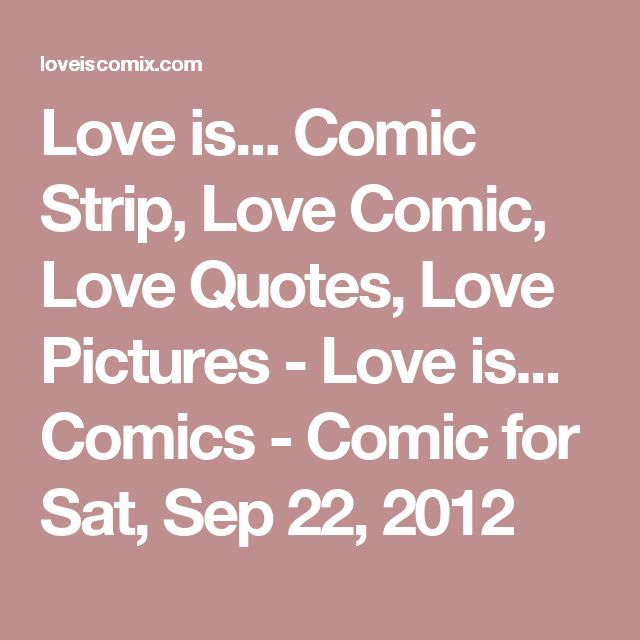 I Love You More Than Quotes: 1000+ Ideas About Love Is Comic On Pinterest