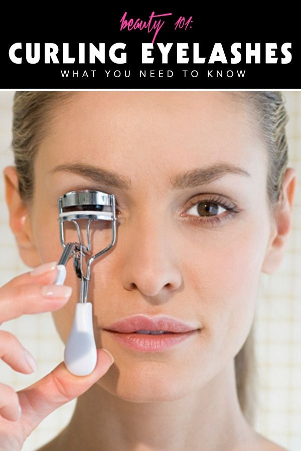 HOW TO: curl eyelashes | Beauty Tips | Pinterest ...
