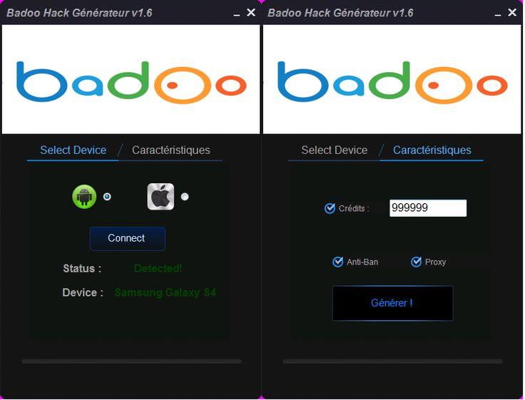 Badoo hack Credits Generator Francais Version