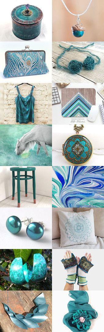 Teal Treasures by Karina Scott on Etsy--Pinned with TreasuryPin.com