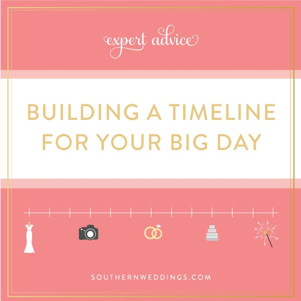 tips for building a timeline for your wedding day