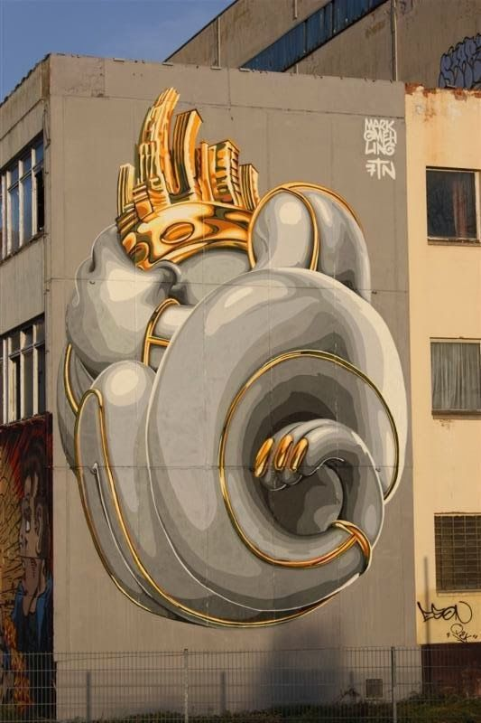 Mark Gmehling in Magdeburg, Germany, awesome urban art, world graffiti, street…