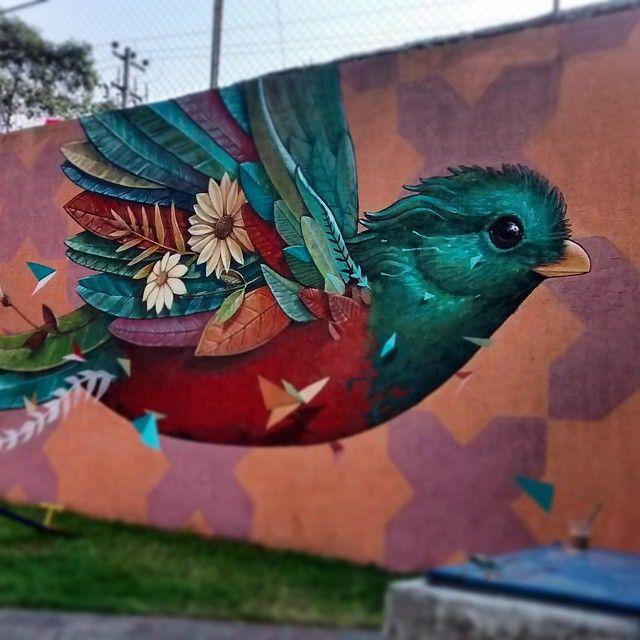 Vuelo de colores recién acabado en la colonia huichapan, México df