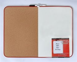 Combination Cork Dry Erase Board   Top Features include: Cork for posting up pics Dry Erase for messages Includes Mounting strips Combination makes for a cheap dorm essential