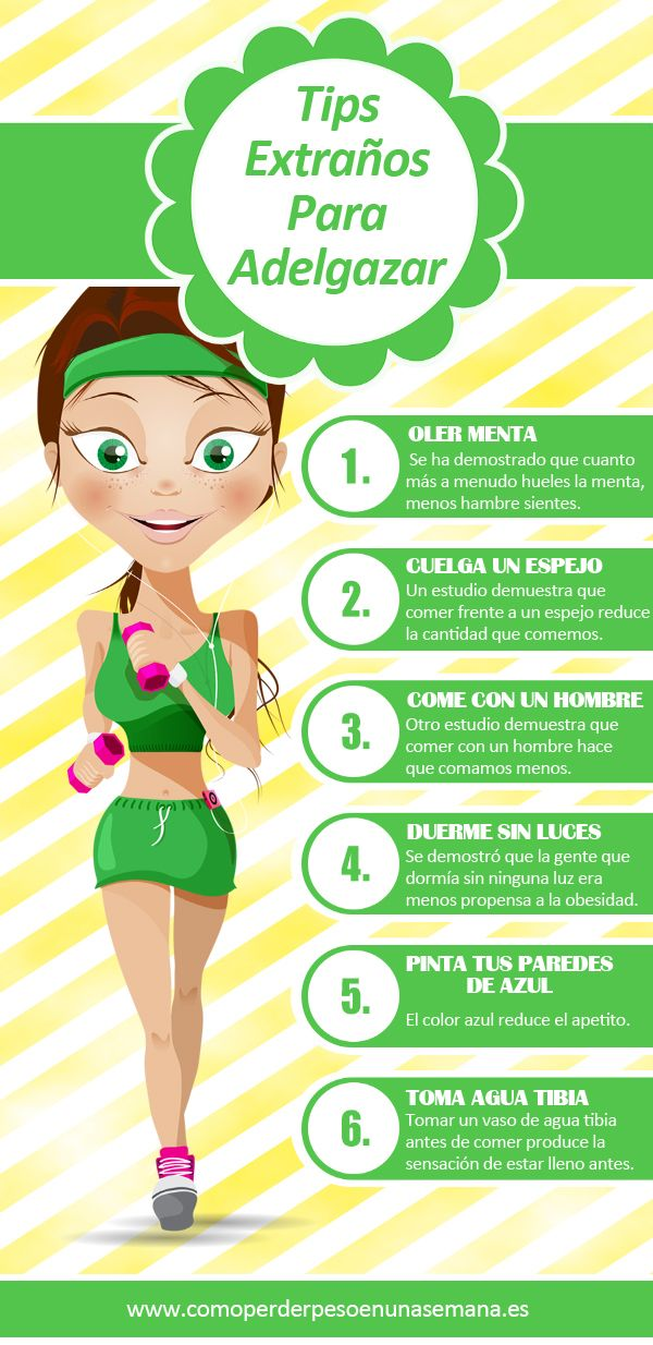 Mientras que llevar una dieta equilibrada y practicar deporte regularmente son las mejores maneras de perder peso y adelgazar, a veces también podemos combinarlos con algunas trucos de lo mas variopinto... #infografia #adelgazar