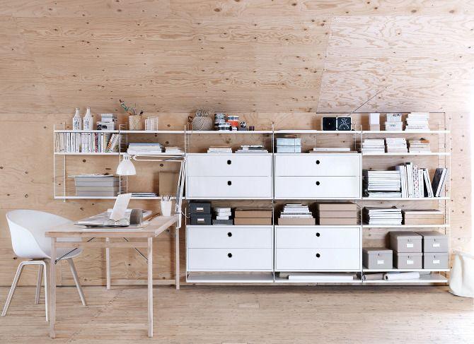 wood & white / string furniture