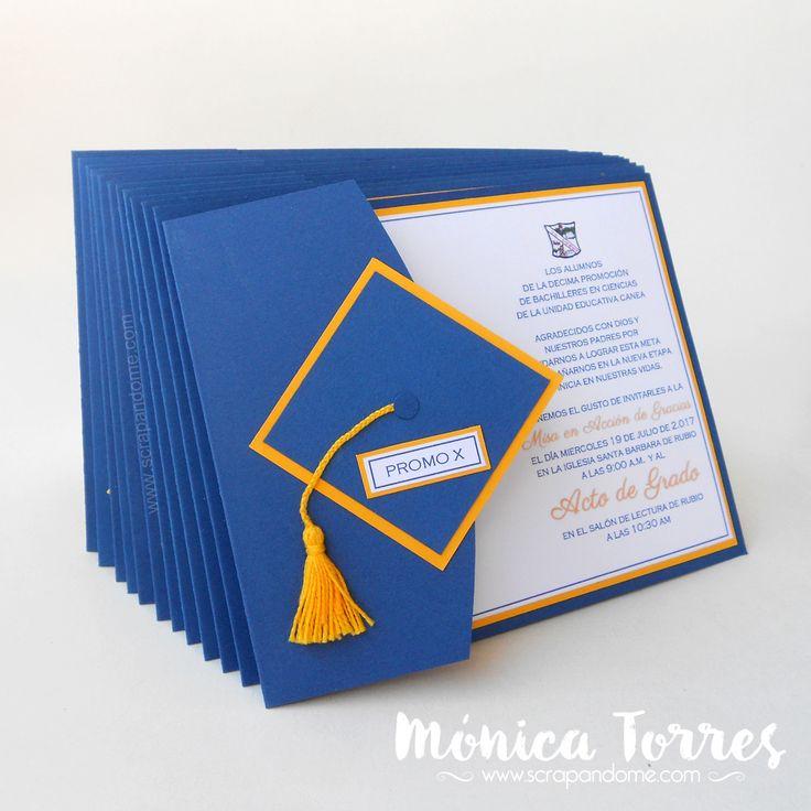Hola Hola Artesanas del Papel Este mes ha sido el de las graduaciones y yo traigo una idea sencilla de tarjetas de invitación, estas las ...