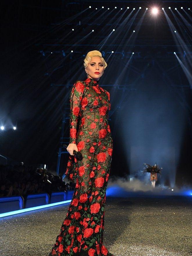 Lady Gaga at the Victoria's Secret Fashion Show 2016.
