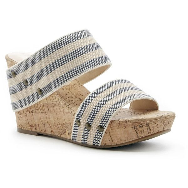 Sole Societyemilia Platform Wedge Sandal ($60) ❤ liked on Polyvore