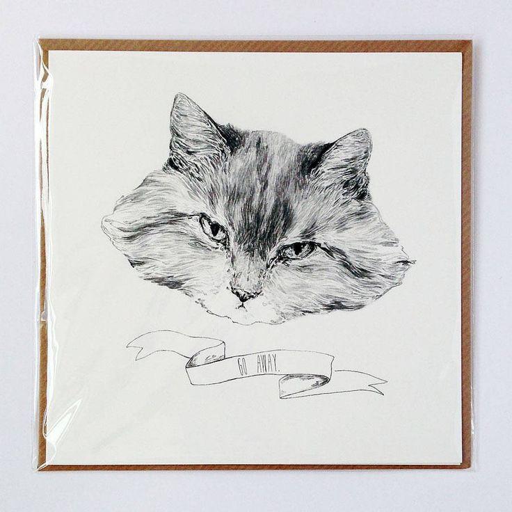 Carte postale chat grincheux « grumpy cat »