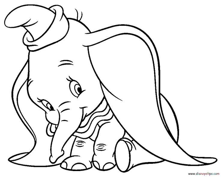 Disney dumbo coloring pages - Bing Images Dumbo drawing