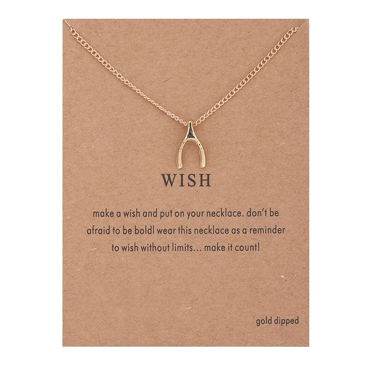 Hot Sale Sparkling wishbone gold plated Pendant necklace Clavicle Chains Statement Necklace Women Jewelry(Has card) 0028