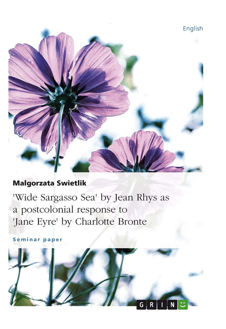 """essays on jane eyre and wide sargasso sea Rhys"""" rewriting of jane eyre as wide sargasso sea re-presents bronte's one-sided narrative by telling the unspoken, untold text by the now-present, open –mouthed antoinette, and the process it transforms in said's words giving voice to what was silent or marginally present."""