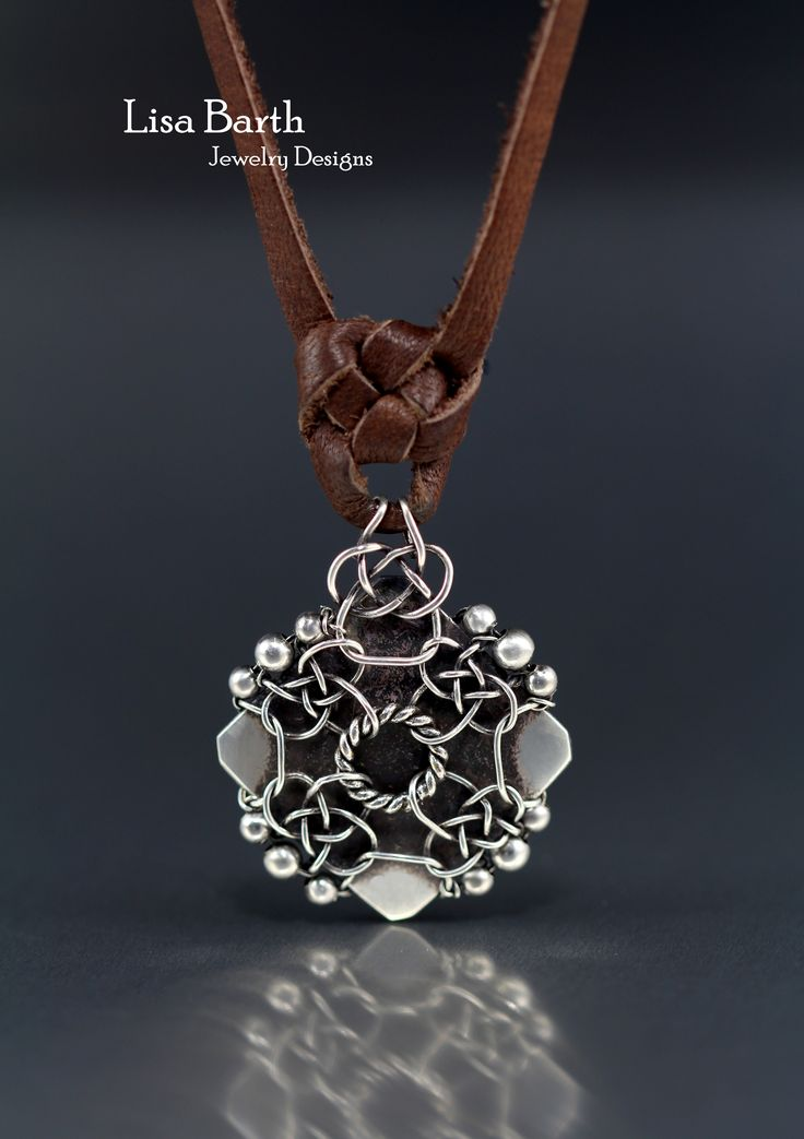 This piece was made using the Celtic Knot for the bail and design on the front.  This just hows the versatility of this technique of making knots in wire. Here's the tutorial:   https://www.etsy.com/listing/519103260/celtic-knot-bail-tutorial?ref=listing-shop-header-1