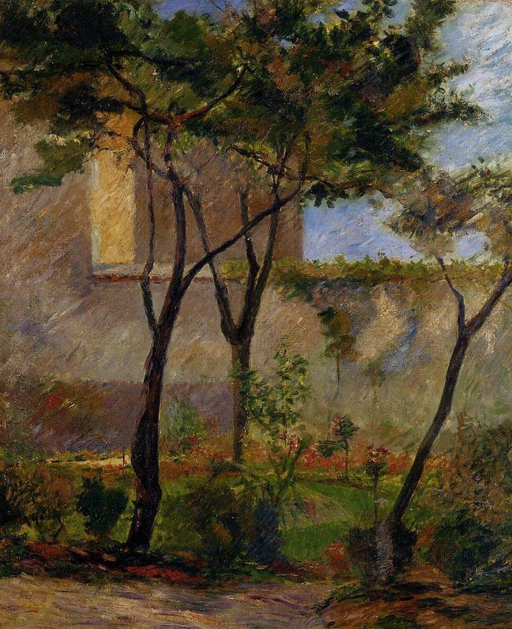Gauguin. Corner of the garden rue Carsal, 1881.: Gardens Rue, Rue Carcel, Paul Gauguin, Corner, Circa 18811882, Art Gauguin, Posts Impressionism, Rue Carsal, Paul Gaugin
