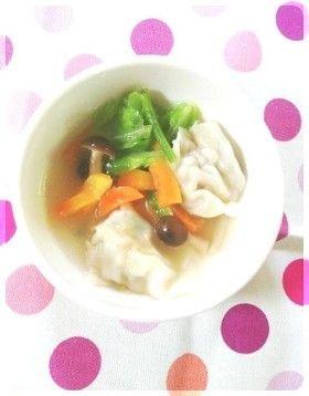 野菜たっぷり✿簡単水餃子スープ by mariniko [クックパッド] 簡単おいしいみんなのレシピが240万品