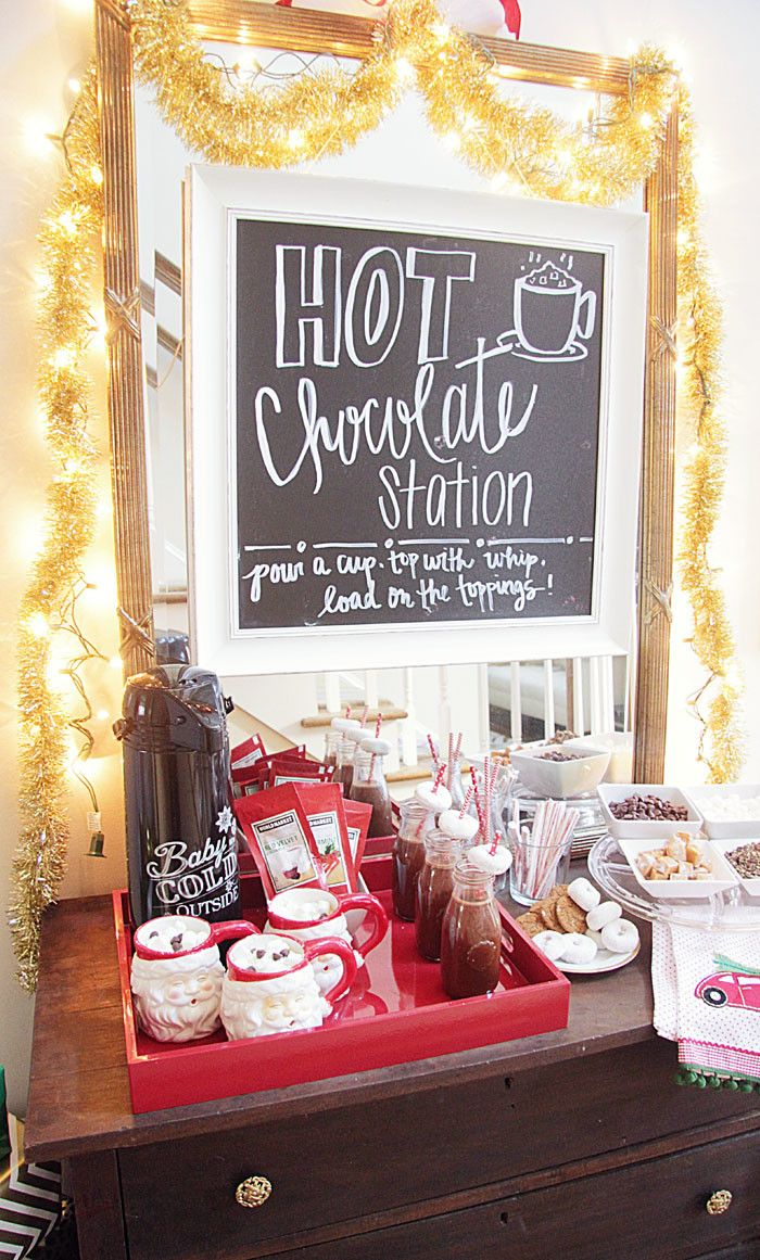 Mommy + Me Hot Cocoa Party | DIY | Party Idea | Hot Chocolate | Christmas Holiday www.styleyoursenses.com