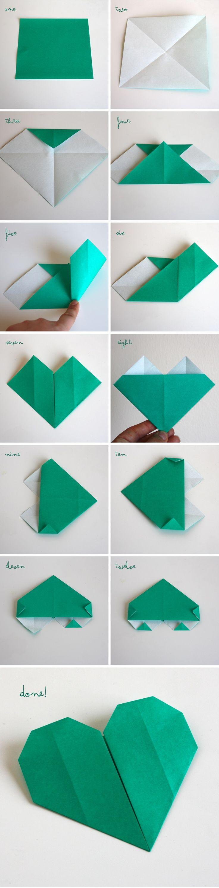 Simple Origami Heart Garland ‹ Mama. Papa. Bubba.Mama. Papa. Bubba.