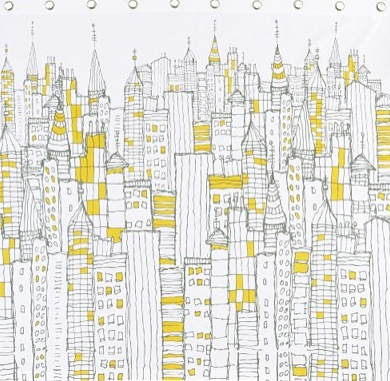 Cityscape Shower Curtain From Cb2 Shower Curtains