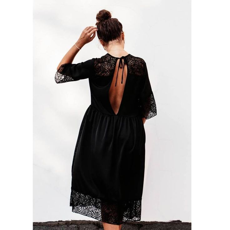 A dress to fall in love with ♡ #ootn #openbackdress > http://bit.ly/2fcdw5x #lace #newcollection #fall #helmistyle