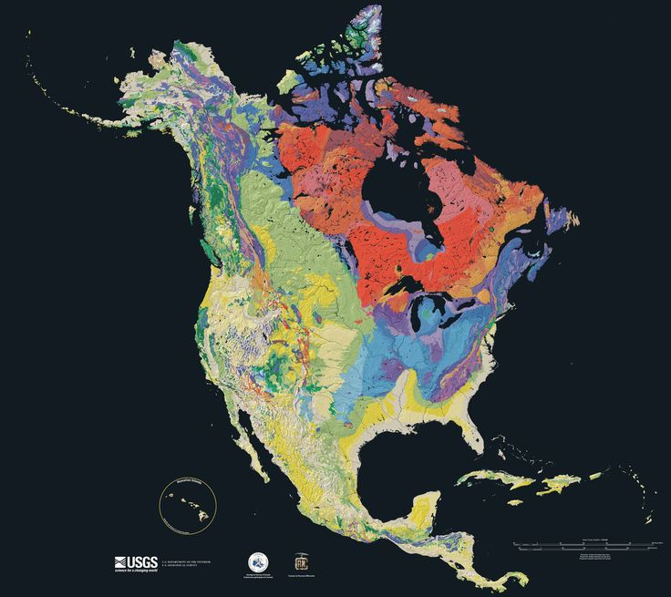 North america terrain 2003 map Geologic