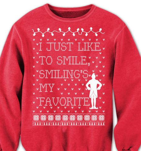 This Elf inspired sweater that�ll put everyone in the Christmas spirit. | 21 Cute Christmas Sweaters That Totally Win This Holiday Season
