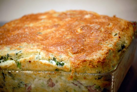 Jacques Pepin - Broccoli Rabe, Ham, and Parmesan Soufflé