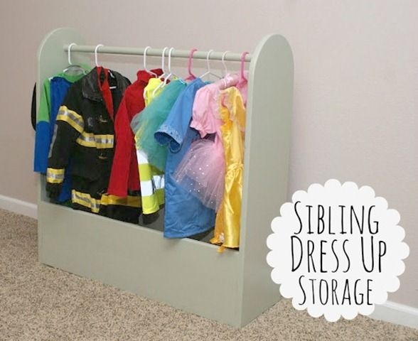 Sibling Dress Up Storage (Boy and Girl Dress Up)
