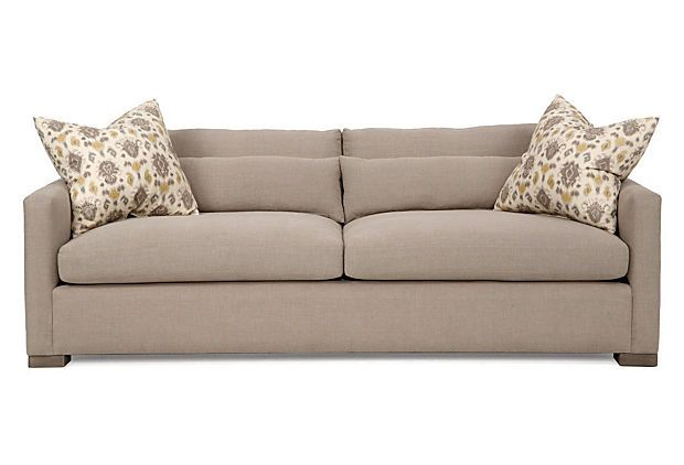 Anthony Sofa, Oatmeal on OneKingsLane.com - would like a loveseat version of this style