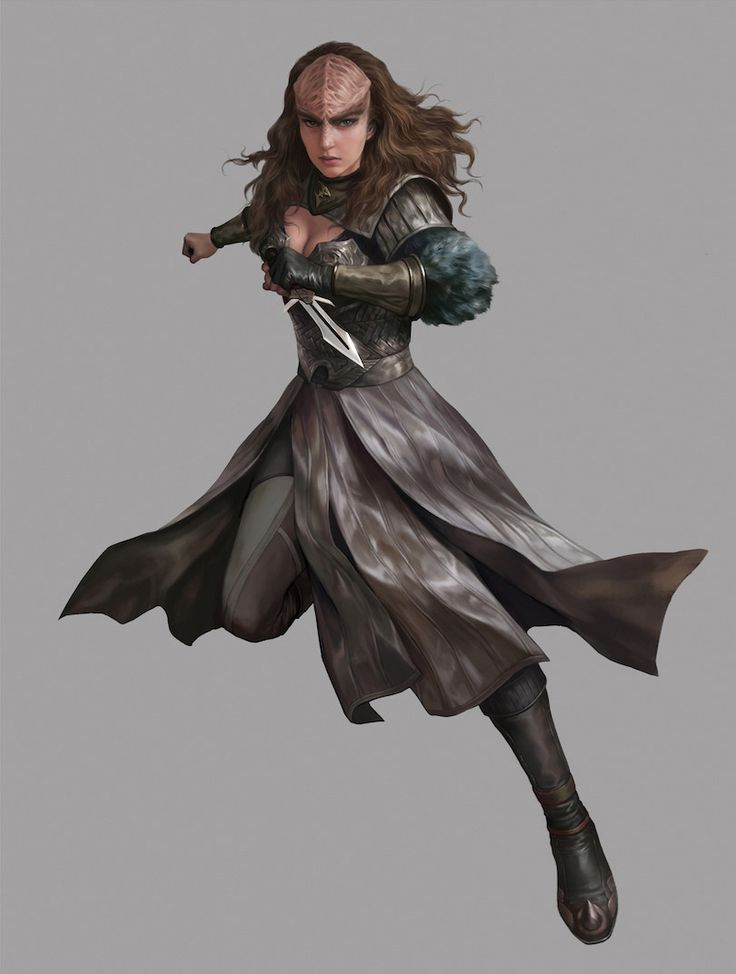 Star Trek_Female Klingon, yin yuming on ArtStation at https://www.artstation.com/artwork/laPJY