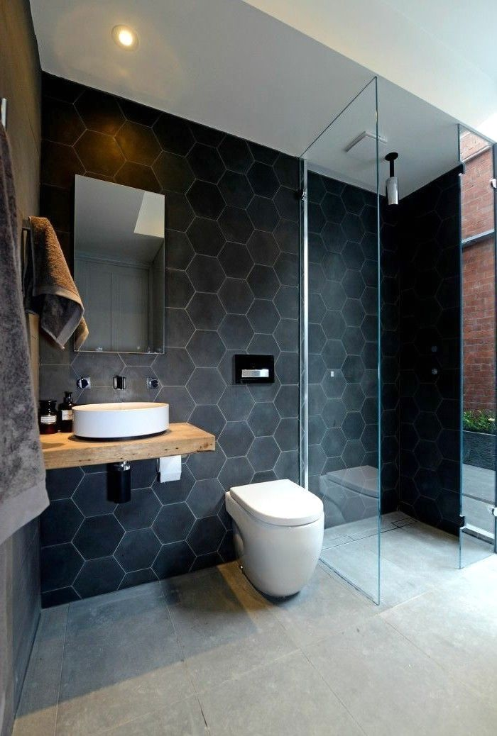 59 simply chic bathroom tile ideas for floor shower and wall rh pinterest com