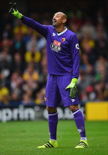 Heurelho Gomes of Watford looks on during the Premier League match between…