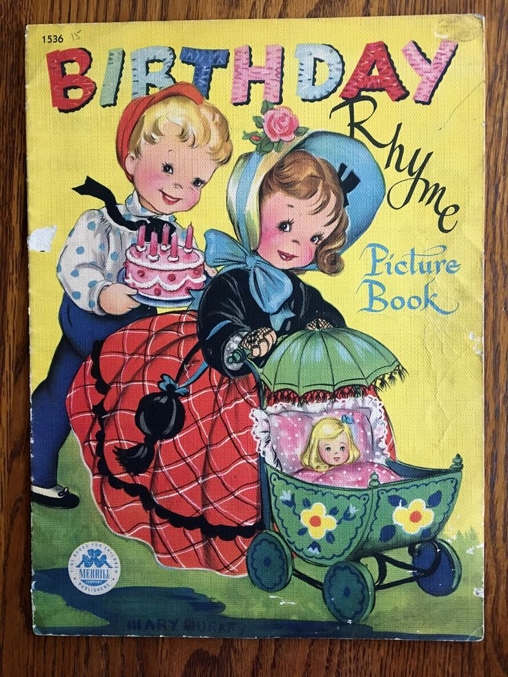A personal favorite from my Etsy shop https://www.etsy.com/listing/585510866/vintage-1948-childs-birthday-rhyme
