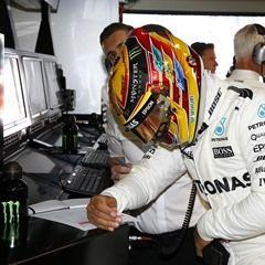 Great Britain's Lewis Hamilton competes at the F1 Russia Grand Prix