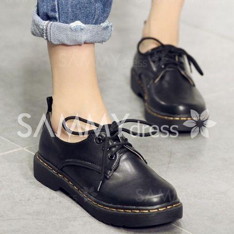Модные строчка и твердый Цвет Design Женские плоские ботинки