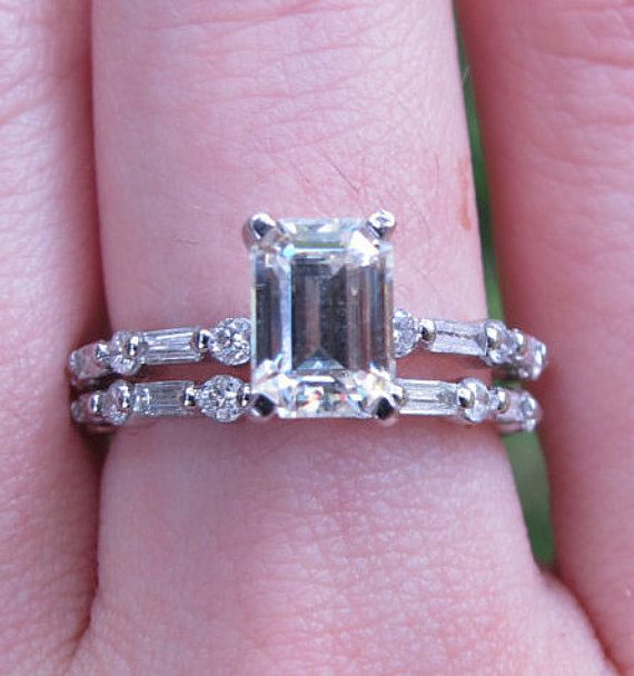 Hey, I found this really awesome Etsy listing at https://www.etsy.com/listing/277893134/emerald-cut-moissanite-engagement-ring