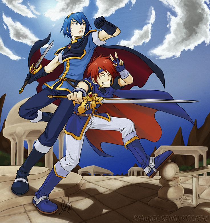 Marth and Roy. Roy is perfection here.XD
