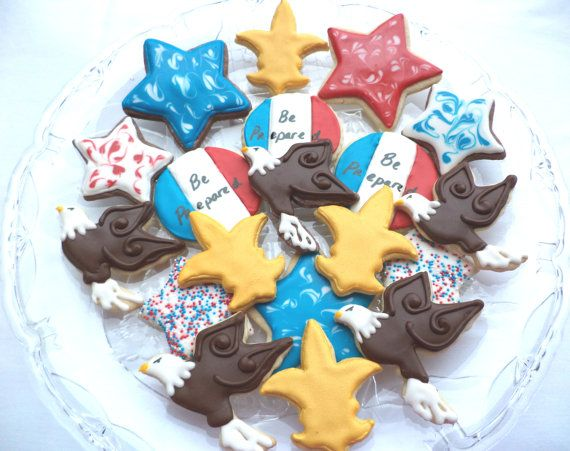Eagle Scout Cookie Tray  3 dozen by PghCookieGoddess on Etsy, $45.00